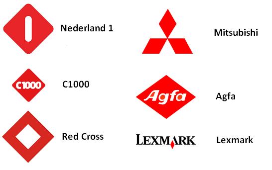 Rode ruiten in logo's