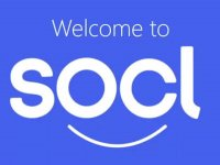Het nieuwe Microsoft Social network. Naast de smiley maken de ogen O en C het gezicht completer